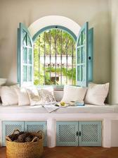 Do mojej spalne: windows sedenie vymurovane s dvierkami zaujimavymi lamelovymi mozno ak bude murovane