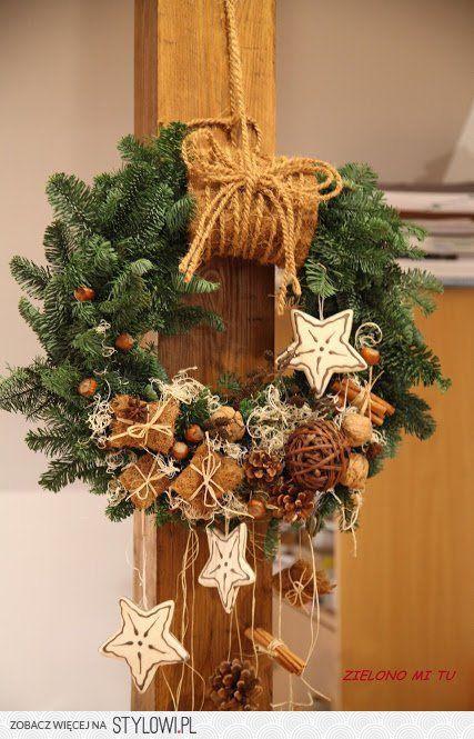 Vianočné vence na dvere - inšpirácie z internetového sveta - Obrázok č. 17