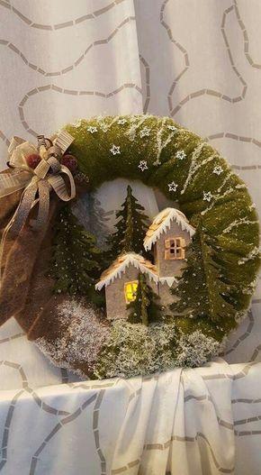 Vianočné vence na dvere - inšpirácie z internetového sveta - Obrázok č. 105