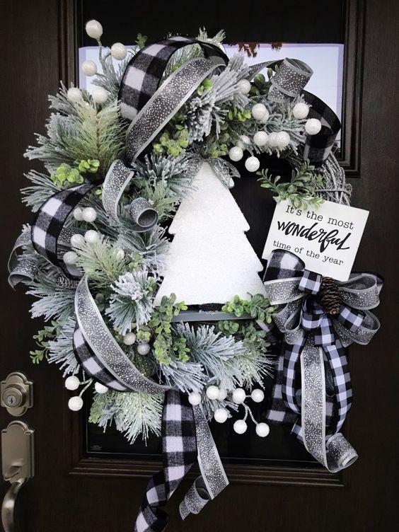 Vianočné vence na dvere - inšpirácie z internetového sveta - Obrázok č. 152