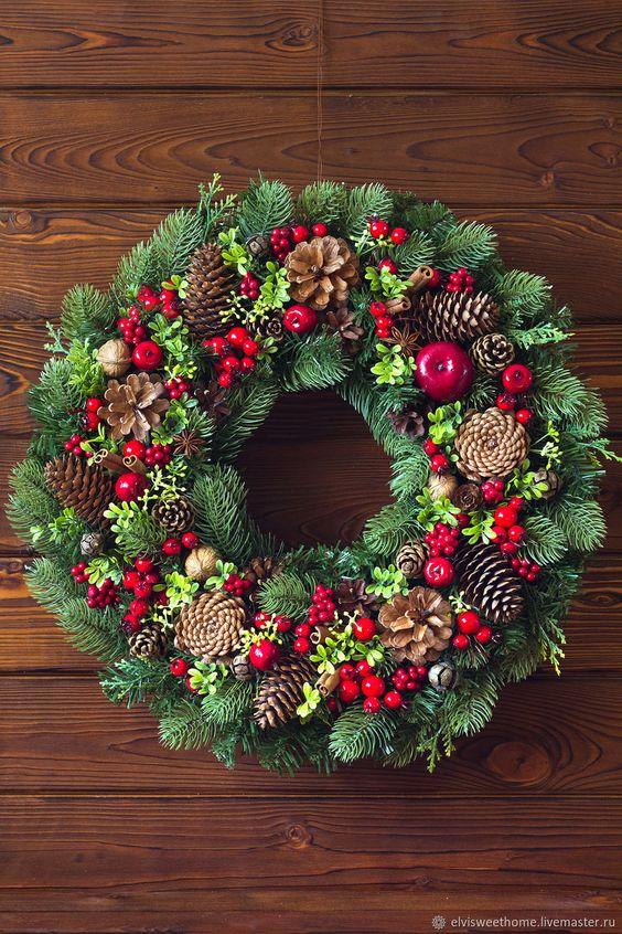 Vianočné vence na dvere - inšpirácie z internetového sveta - Obrázok č. 153