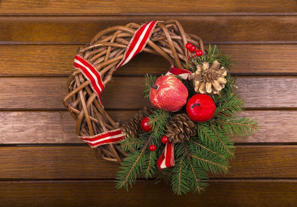 Vianočné vence na dvere - inšpirácie z internetového sveta - Obrázok č. 1
