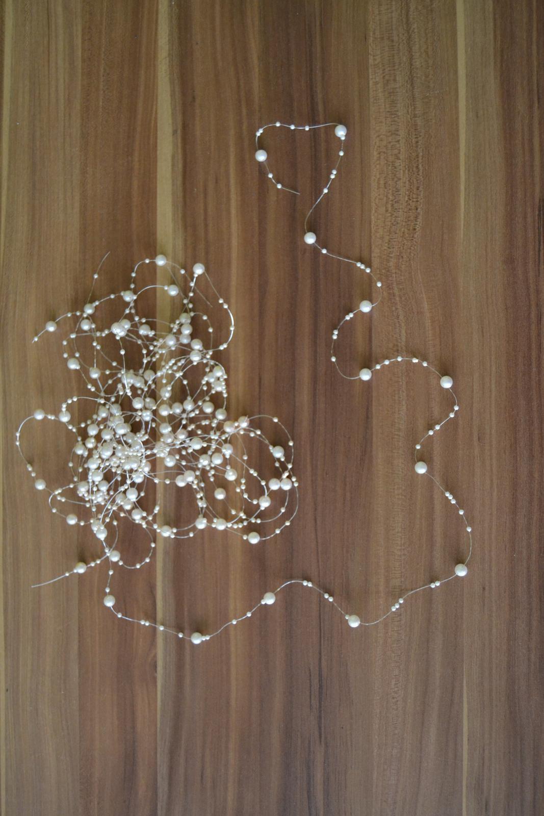 Perličky na vlasci, champagne 6 ks. - Obrázek č. 1