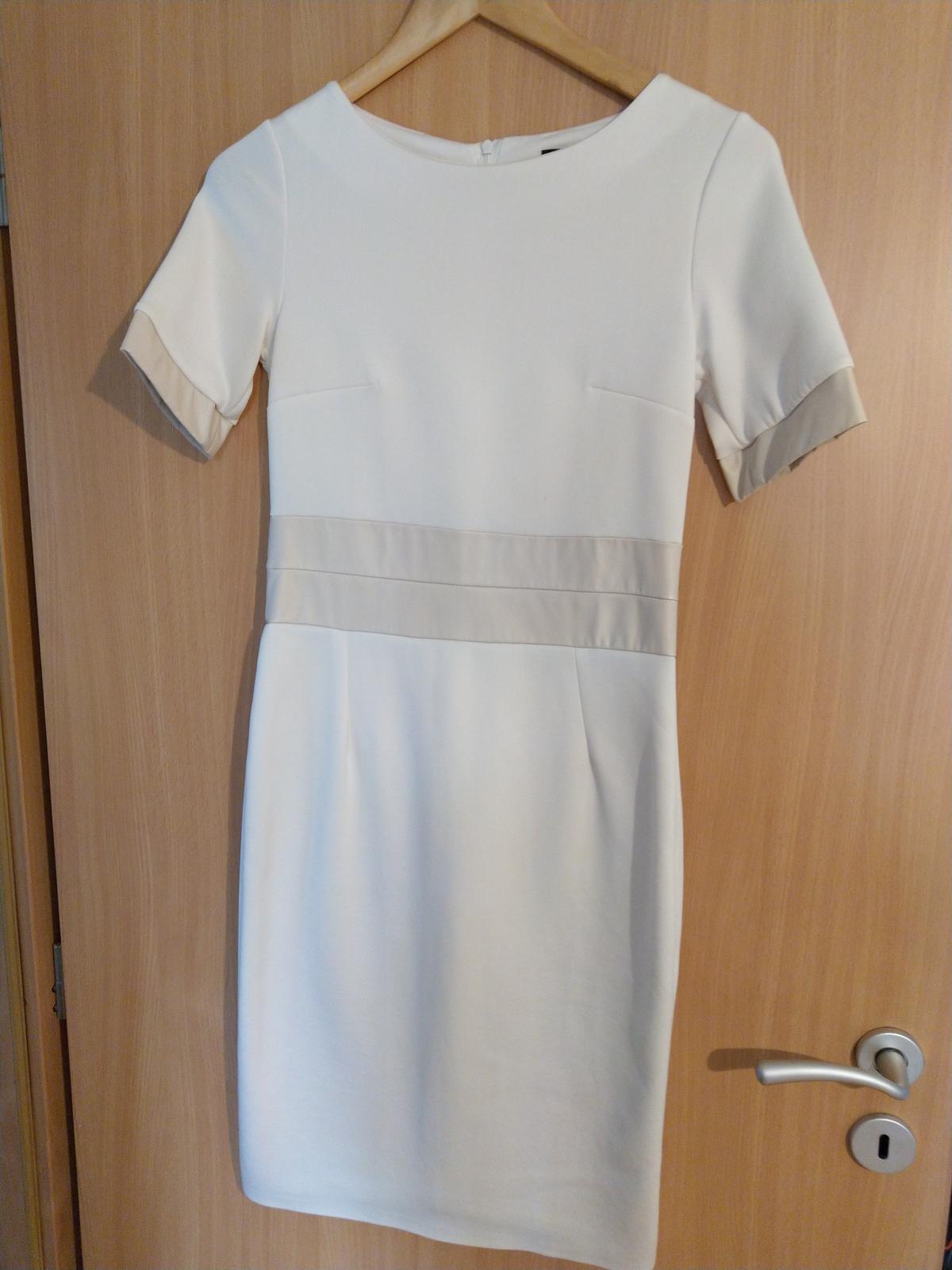 Krásne krémové šaty - Obrázok č. 1