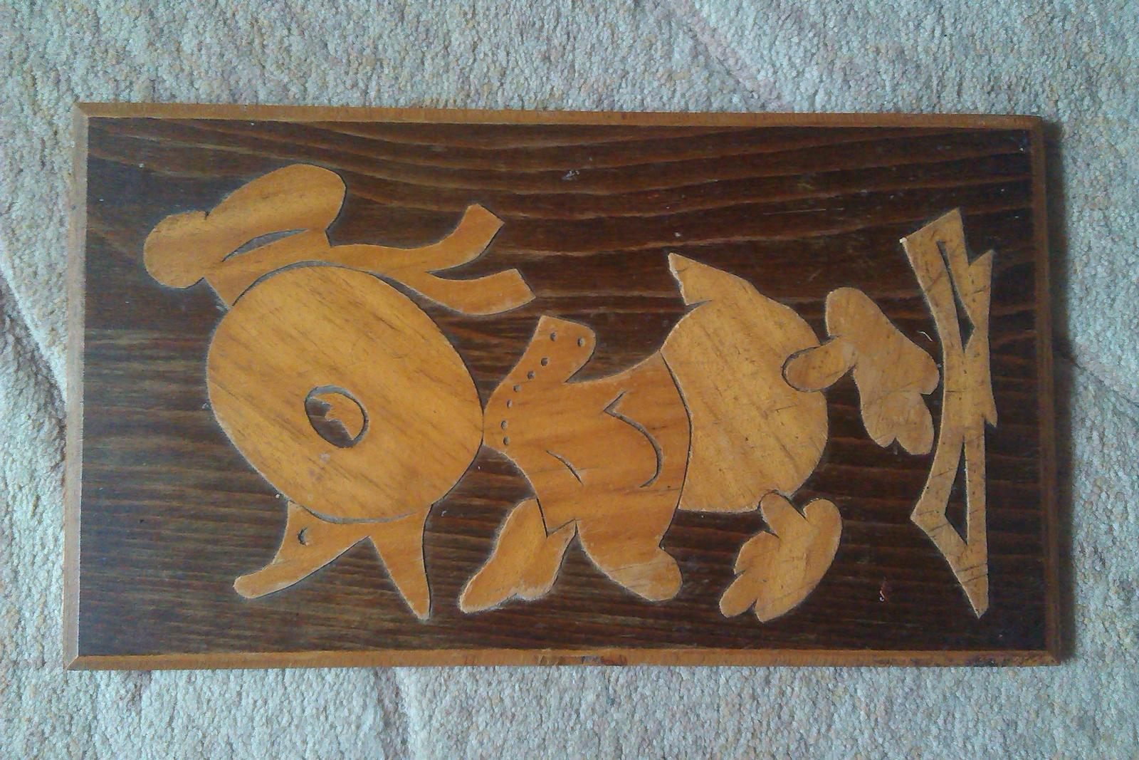 drevenny obraz káčer - Obrázok č. 1