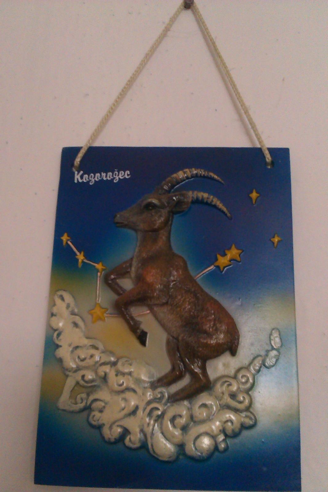 keramicky obraz so znamenim zverokruhu kozorozec - Obrázok č. 1