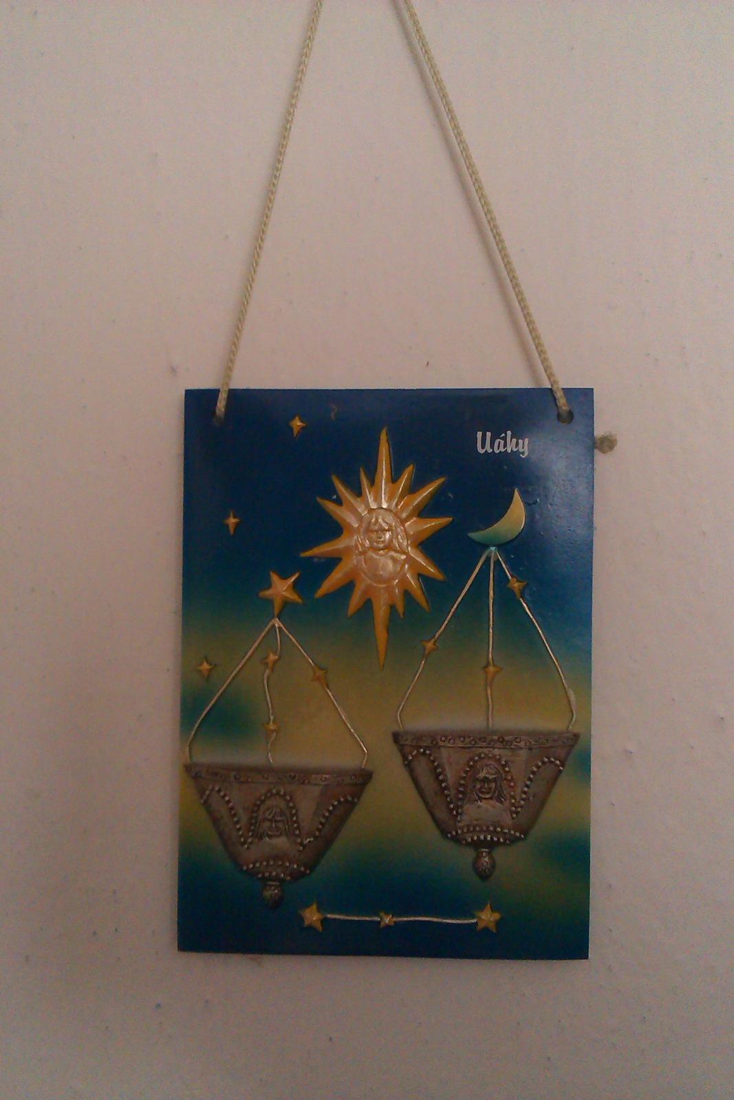 keramicky obraz so znamenim zverokruhu vahy - Obrázok č. 1