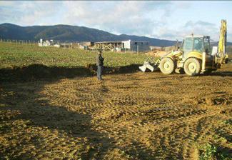vyrovnávanie terénu november 2008