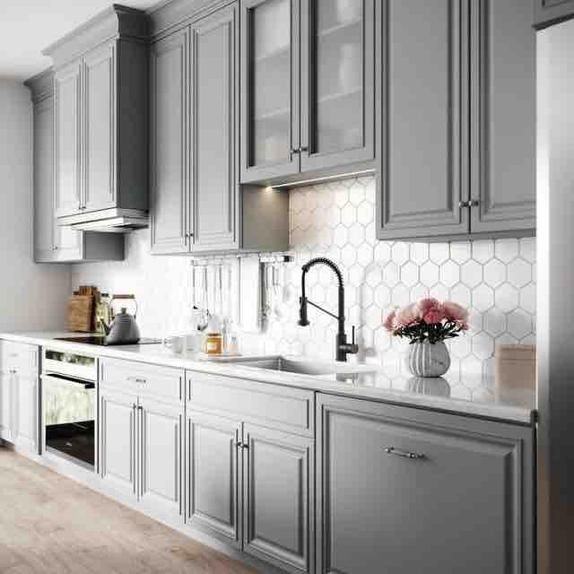 Inšpirácia kuchyňa - šedá - čistá línia