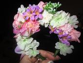 Květinové čelenky - věnečky,