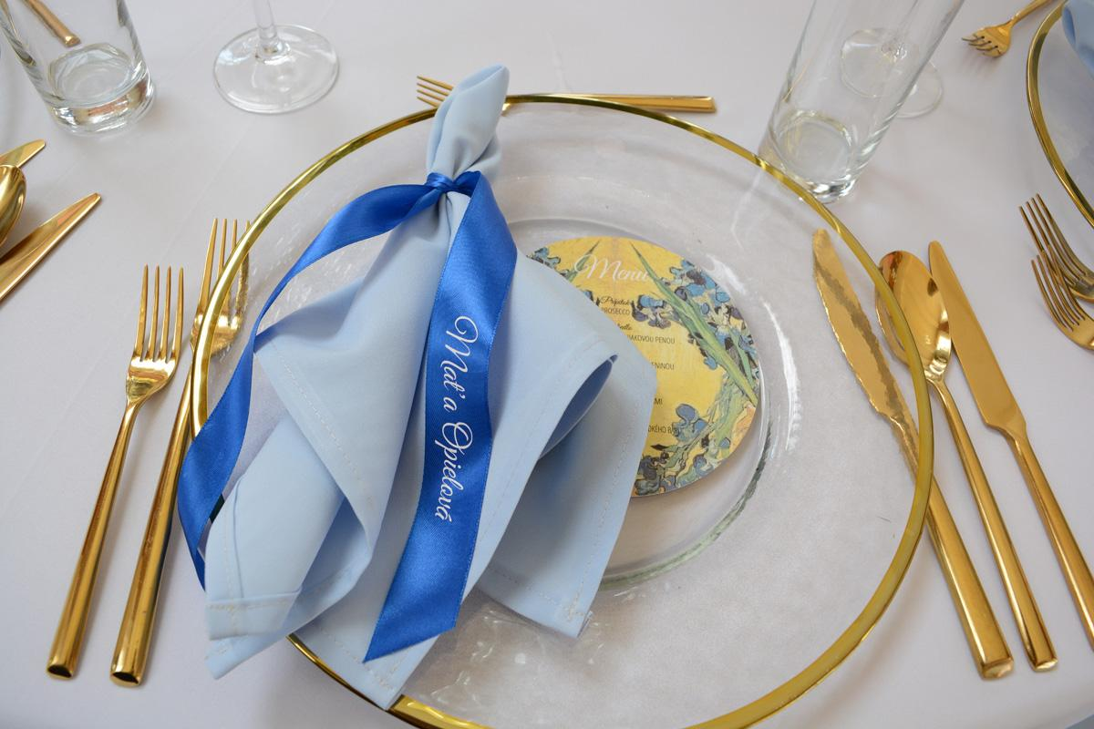 Klubový tanier zlatý lem - Obrázok č. 1