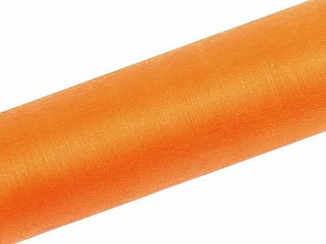 Organza oranžová 16cm/9m neobšitá - Obrázek č. 1