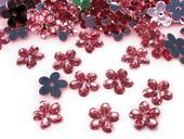 Plastové květiny růžové (100ks),
