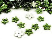 Plastové květiny zelená trávová (100ks),