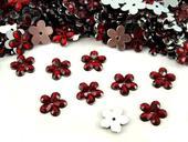Plastové květiny bordó (100ks),