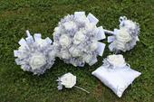 Svatební set v šedé/stříbrné,