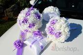 Set svatebních kytic - Lila,