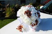 Svatební kytice vč. korsáže hnědá,