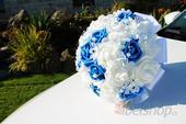 Svatební kytice vč. korsáže král. modrá,
