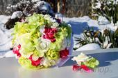 Svatební kytice Fuchsia + Zelená,