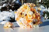 Svatební kytice meruňková,