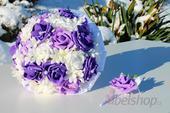 Svatební kytice Mix fialová,
