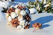Svatební kytice Bavlník vč. korsáže,