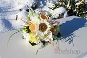 Svatební kytice bílé slunečnice,