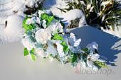 Svatební kytice vč. korsáže převislá - Magnólie,