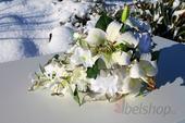 Svatební kytice vč. korsáže převislá - Lilie,