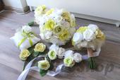 Svatební set v bílo-zelené (9ks),