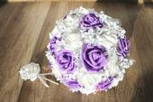 Svatební kytice lila vč. korsáže,