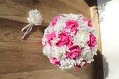 Svatební kytice fuchsie vč. korsáže,