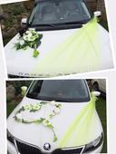 Svatební dekorace na auto - na přání - celý set,