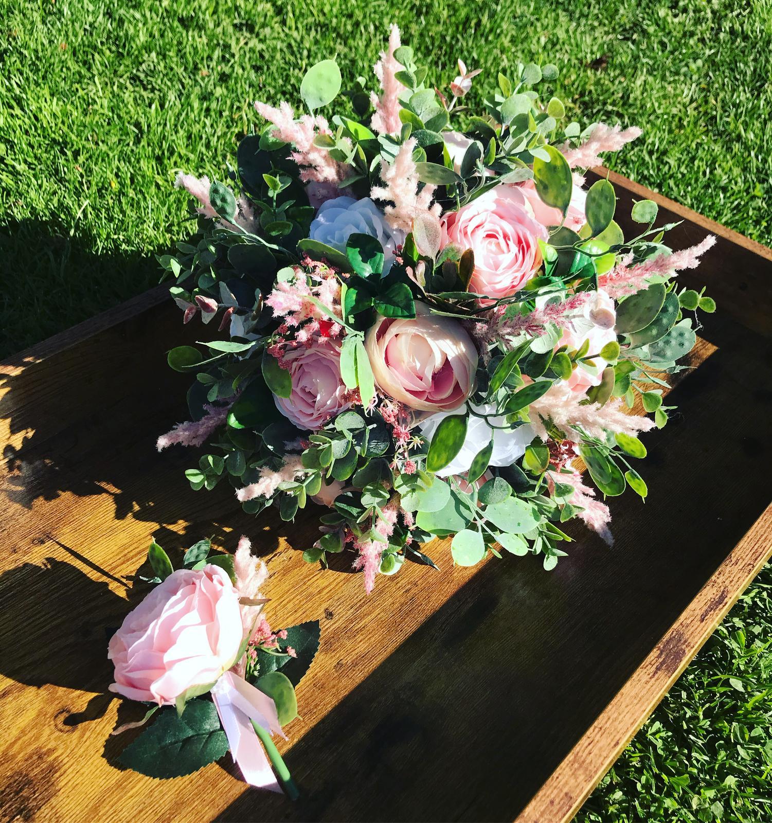Svatební kytice starorůžová - Obrázek č. 1