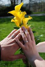 prstýnky a manikura (měla jsem označný prst,na který patřil prstýnek :-))