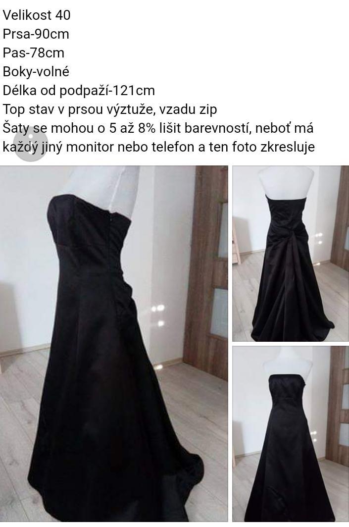 Dlouhé společenské šaty s mírnou vlečkou - Obrázek č. 1