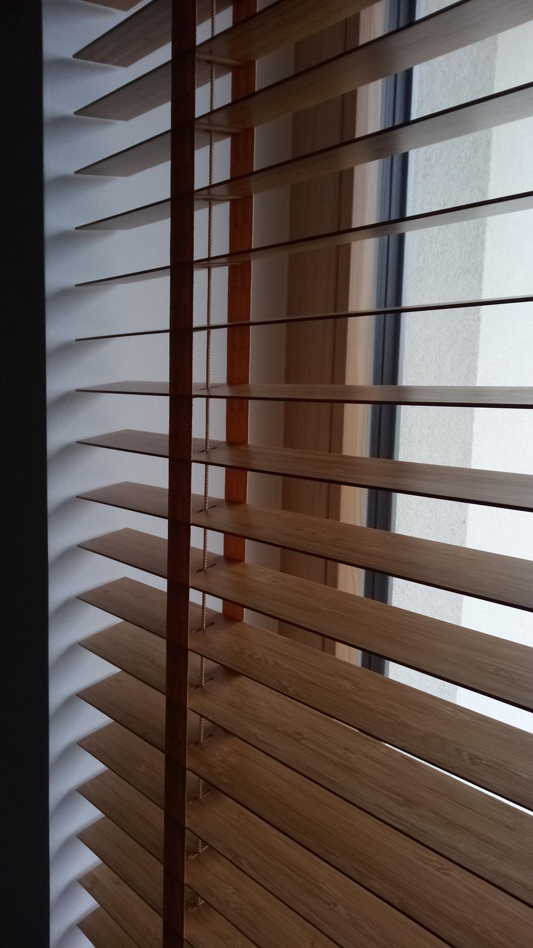 Domček pre moju rodinku :) - bambusova zaluzia