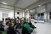 Umíme i ozvučení pro prezidenta ;) Dako-CZ, a.s. - Třemošnice - djprotvouakci.cz - ozvučení při slavnostním otevření nové haly prezidentem ČR Milošem Zemanem dne 12. ledna 2015