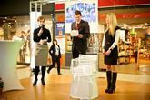 Svatební veletrh v OC Futurum v Hradci Králové v sobotu 21.2.2015. djprotvouakci.cz zajišťoval ozvučení a nasvícení hlavního podia a na místě návštěvníci našli i veletržní stánek naší společnosti.