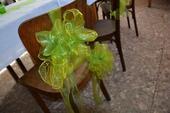 Mašle na židle - zelené,