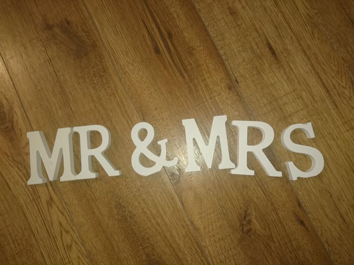 Napis MR & MRS - Obrázok č. 1