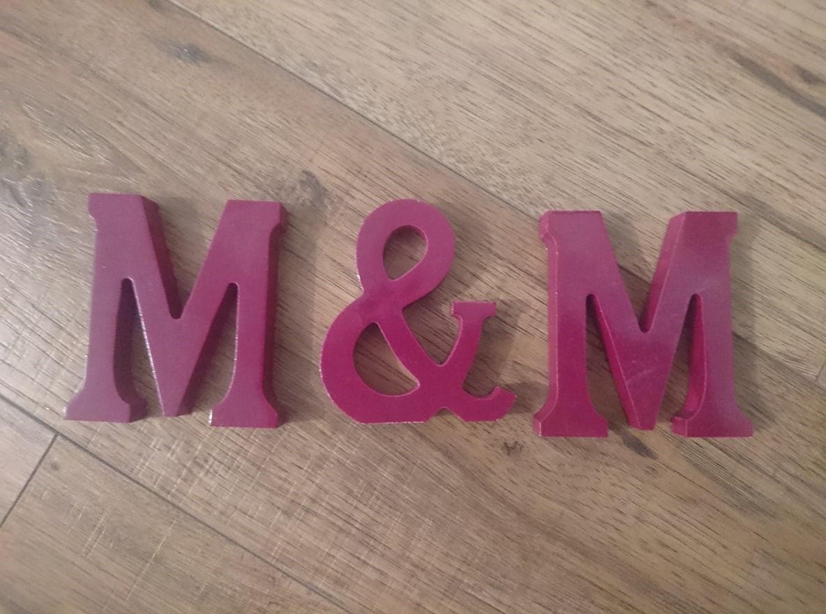 Napis M&M - Obrázok č. 1