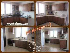Kuchyňa, naša výroba - v novom dome v novom šate :-)