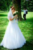 Princeznovské, snehovobiele šaty značky Madora, 40