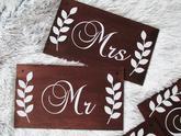 Tabuľka na zavesenie napr na stoličky mladomanželov, alebo na svadobné fotenie. Tabuľky sú zhotovené z preglejky. 25x14cm