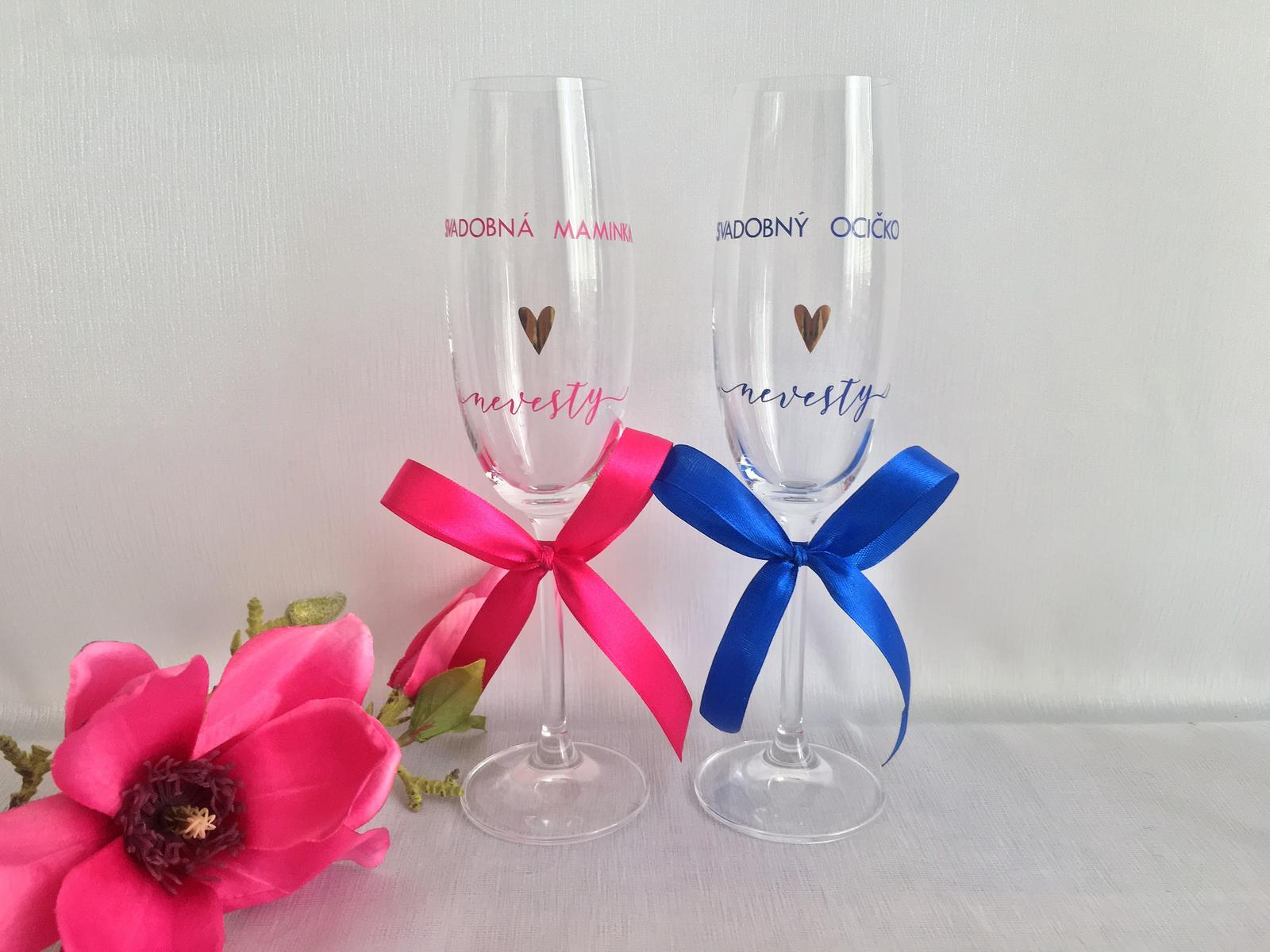 Svadobné poháre - poháre pre svadobých rodičov nevesty