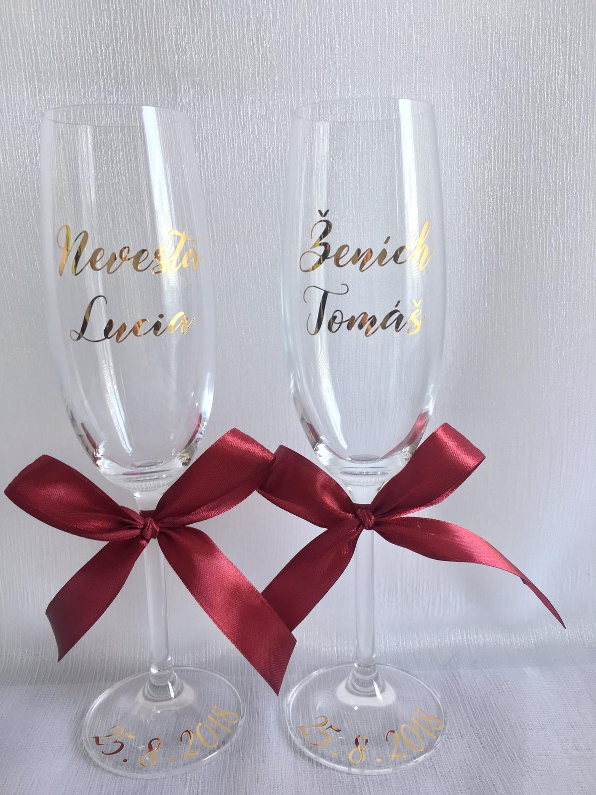 Svadobné poháre - Obrázok č. 41