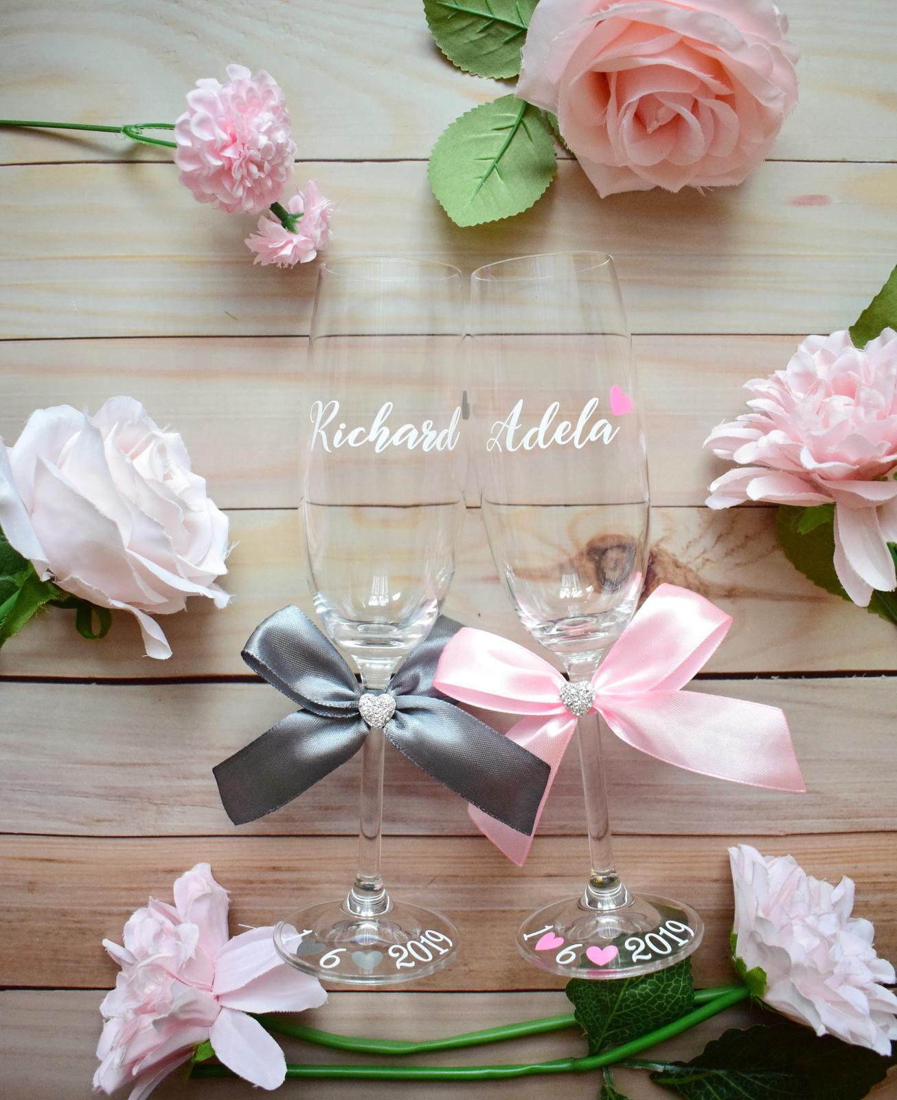 Svadobné poháre - Obrázok č. 2