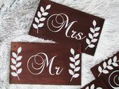 Svadobné tabuľky Mr Mrs,